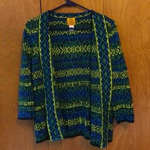 Groovy Patterned Cardigan